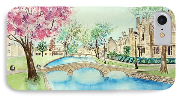 IPhone Case featuring the painting Summer In Bourton by Elizabeth Lock