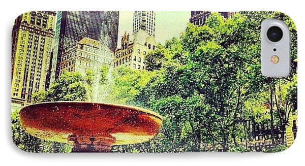 Summer In Bryant Park IPhone Case by Luke Kingma