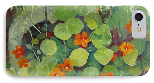 IPhone Case featuring the painting Summer In The Garden by Elena Oleniuc