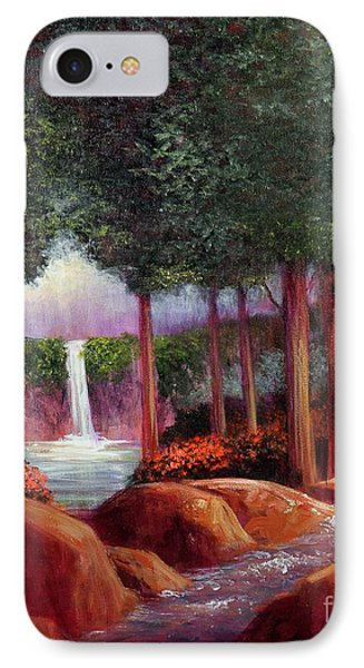 IPhone Case featuring the painting Summer In The Garden Of Eden by Randol Burns