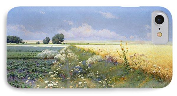 Summer Landscape IPhone Case by Eugeniusz Wrzeszcz