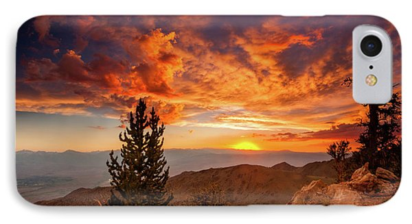 Summer Monsoon Over The Owens IPhone Case by Dan Holmes