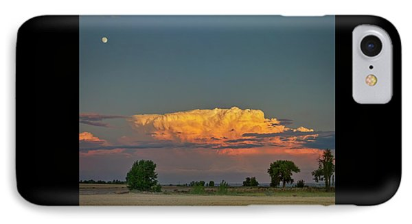 IPhone Case featuring the photograph Summer Night Storms Brewing And Moon Above by James BO Insogna
