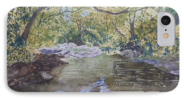 IPhone Case featuring the painting Summer On The South Tow River by Joel Deutsch