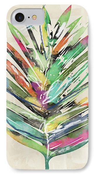 Summer Palm Leaf- Art By Linda Woods IPhone Case