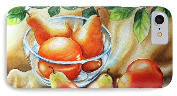 IPhone Case featuring the painting Summer Pears by Inese Poga