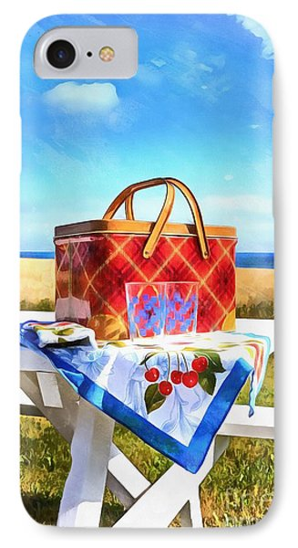 Summer Picnic Acrylic IPhone Case by Edward Fielding
