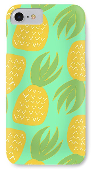 Summer Pineapples IPhone 7 Case by Allyson Johnson