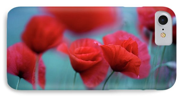 Summer Poppy Meadow 3 IPhone Case