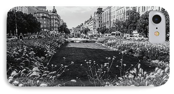 IPhone Case featuring the photograph Summer Prague. Black And White by Jenny Rainbow