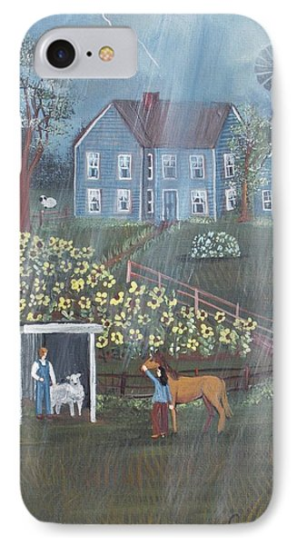 Summer Rain IPhone Case by Virginia Coyle