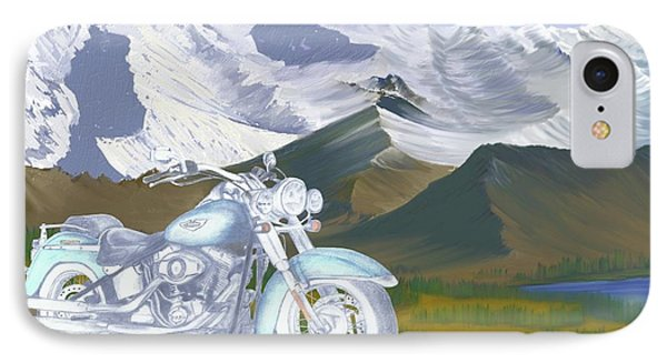 IPhone Case featuring the drawing Summer Ride by Terry Frederick