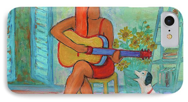 IPhone Case featuring the painting Summer Serenade II by Xueling Zou
