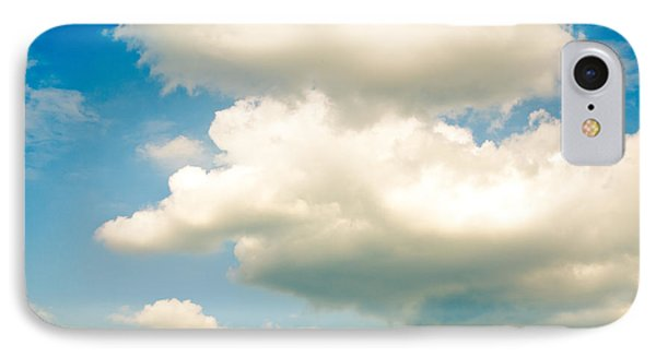 Summer Sky Blue Sky White Clouds Phone Case by Andy Smy