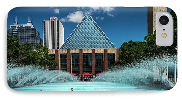 IPhone Case featuring the photograph Summer Splash Downtown Edmonton by Darcy Michaelchuk