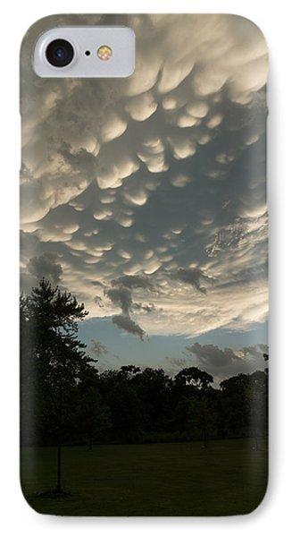 Summer Storm Aftermath - Extraordinary Mammatus Clouds IPhone Case