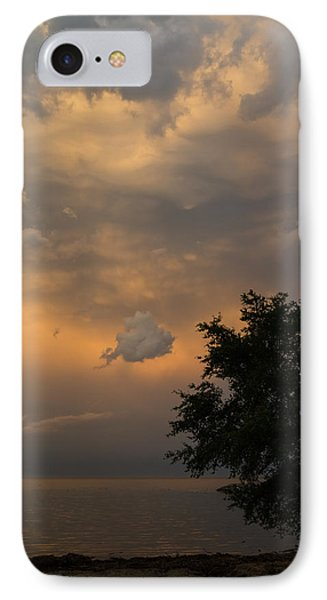 Summer Storm Aftermath - Phenomenal Sunset Sky Over The Lake IPhone Case