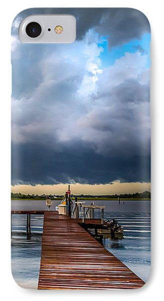 Summer Storm Blues IPhone Case by Karen Wiles