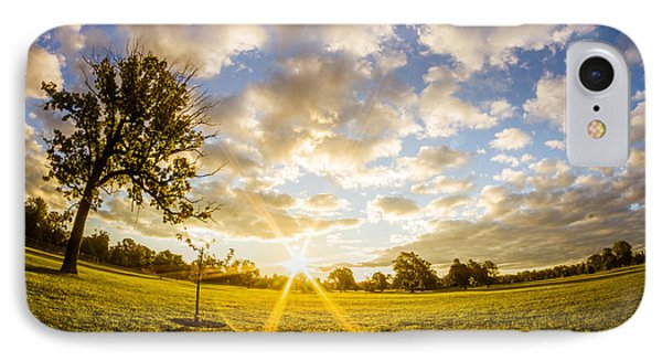 IPhone Case featuring the photograph Summer Sunrise Across Delware Park Meadow by Chris Bordeleau
