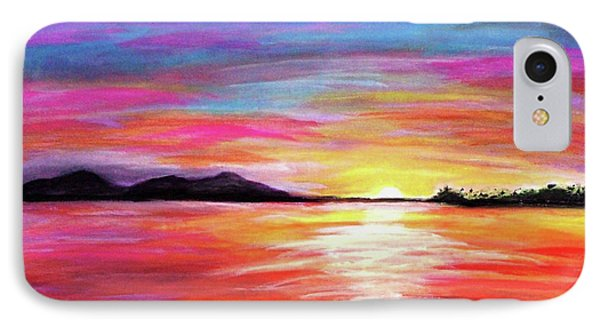 IPhone Case featuring the painting Summer Sunrise by Sonya Nancy Capling-Bacle