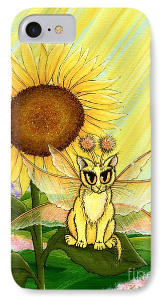 Summer Sunshine Fairy Cat IPhone Case by Carrie Hawks