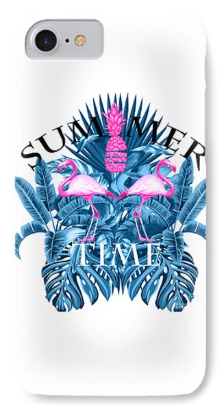 Summer Time Tropical  IPhone Case