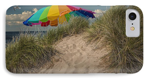 Summertime At The Beach IPhone Case by Randall Nyhof