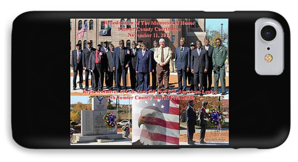 IPhone Case featuring the photograph Sumter County Memorial Of Honor by Jerry Battle
