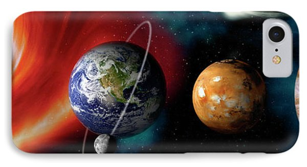 Sun And Planets IPhone Case by Panoramic Images