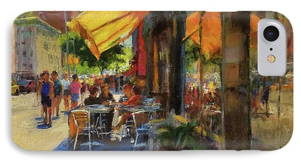 Sun And Shade On Amsterdam Avenue Phone Case by Peter Salwen
