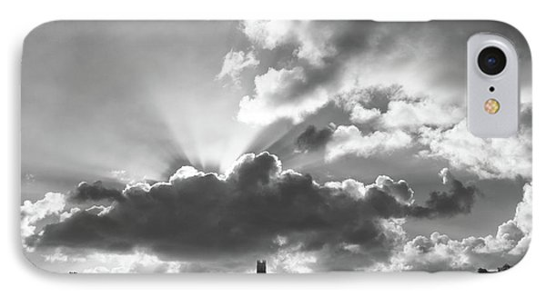 IPhone Case featuring the photograph Sun Beams Over Church by Nicholas Burningham
