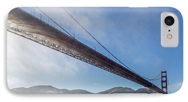 Sun Beams Through The Golden Gate Phone Case by Scott Campbell