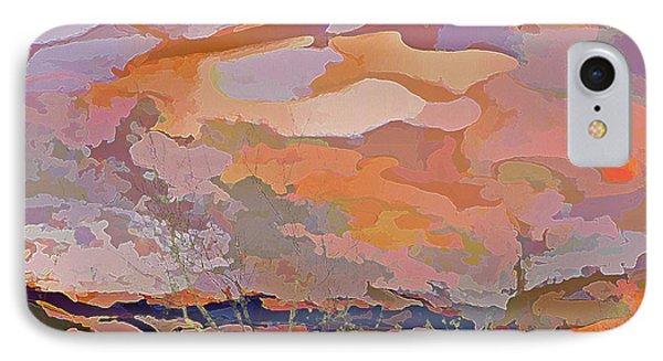IPhone Case featuring the mixed media Sun Breaks Through by Lynda Lehmann