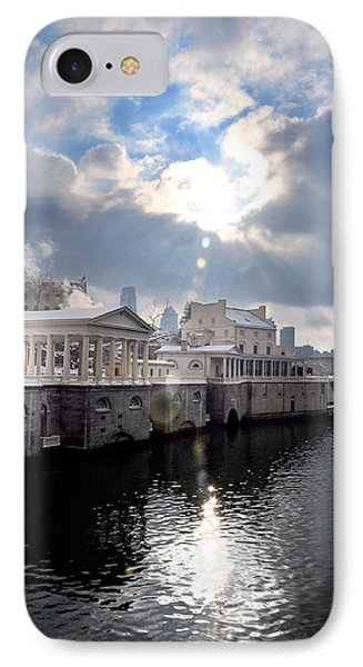 Sun Burst Over The Fairmount Water Works Phone Case by Bill Cannon