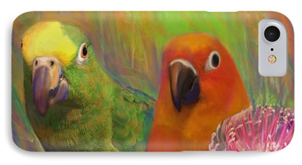 Sun Conure IPhone Case by Julianne  Ososke