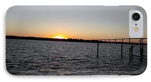 Sun Going Down Near Gov Thomas Johnson Bridge IPhone Case
