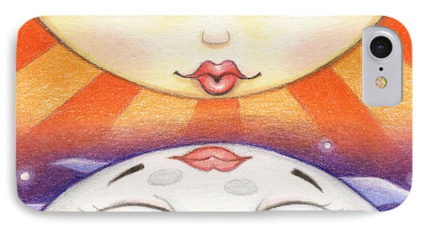 Sun Kissed Moon Phone Case by Amy S Turner