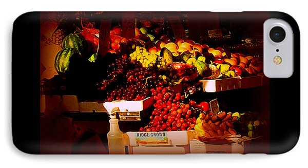 Sun On Fruit - Markets And Street Vendors Of New York City IPhone Case by Miriam Danar