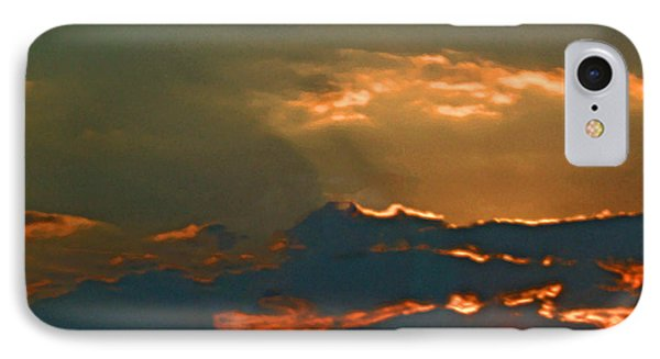 Sun Peering Through The Clouds IPhone Case by Skyler Tipton