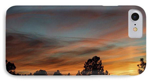 Sun Pillar Sunset IPhone Case by Jason Coward