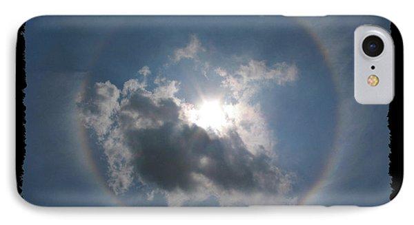 Sun Portal  A Rainbow Around The Sun With Black Border Phone Case by Adam Long