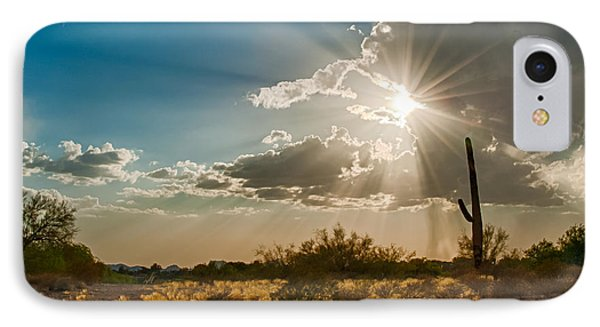 IPhone Case featuring the photograph Sun Rays In Tucson by Dan McManus