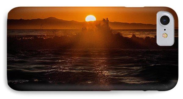 Sun Setting Behind Santa Cruz Island IPhone Case by John A Rodriguez