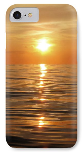 Sun Setting Over Calm Waters IPhone Case