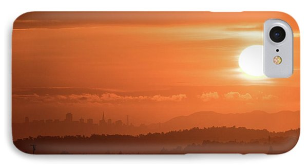 Sun Setting Over San Francisco IPhone Case by Glen Florey