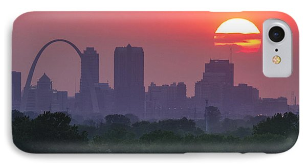 Sun Setting Over St Louis IPhone Case by Garry McMichael