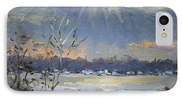 Sun Setting Over The Niagara River IPhone Case by Ylli Haruni