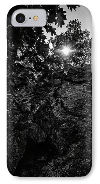 Sun Through The Trees IPhone Case by Paul Seymour