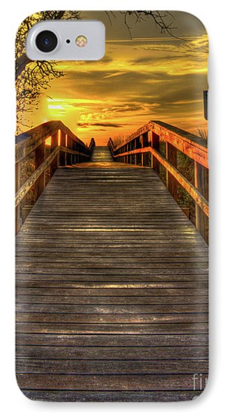 Sunbathing Ahead Tybee Island Sunrise Tybee Island Collection Art IPhone Case