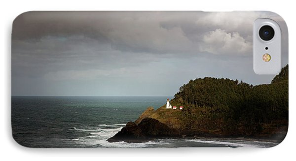 IPhone Case featuring the photograph Sunbeam On The Lighthouse by Mary Jo Allen